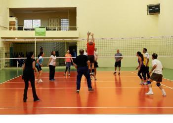 """El renovado gimnasio """"Voley 1"""""""