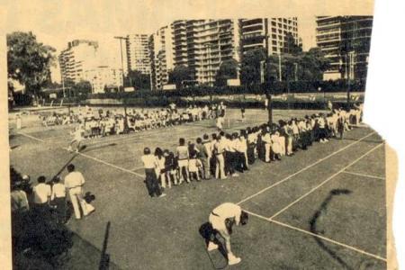 Año 1981 - Finales Interclubes Primera libre - Caballeros vs Ferrocarril Oeste - Damas vs Argentino