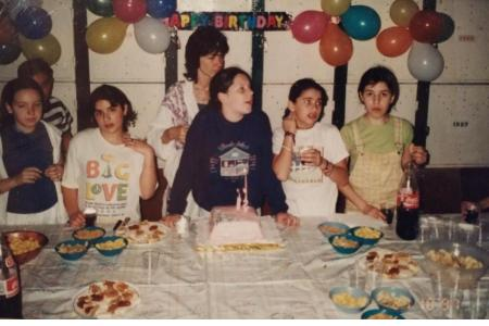 Año 1997 - Cumpleaños en los quinchos del club